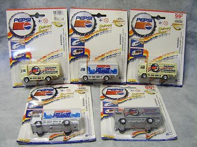 V40 Lot 5 Pepsi Delivery Trucks Diet Choice of New Generation NIP Collectible