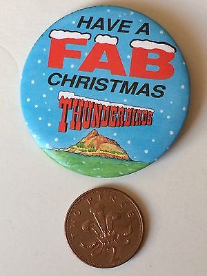 Thunderbirds Fab Christmas Button Pin Badge (See Pictures) ITC 1992