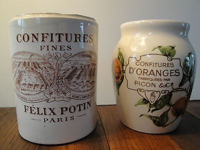2 Pots Confiture :oranges Picon Et Felix Potin Paris