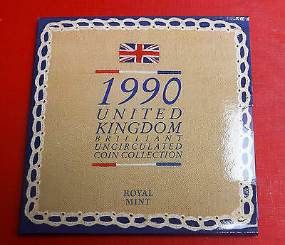 1990 Brilliant Uncirculated Decimal Coin Set All Packaging And Paperwork