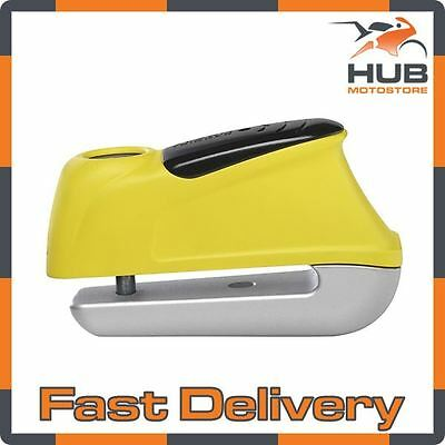 Abus Trigger 345 Motorcycle Motorbike Scooter Security Disc Lock Alarm - Yellow