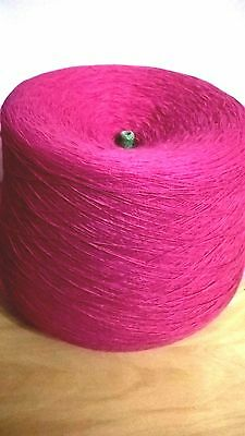 Cerise Pink 1ply 100% acrylic 846g  Hand or Machine Knitting Yarn on Cone LOT 17