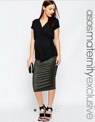 Asos Midi Pencil Skirt Maternity
