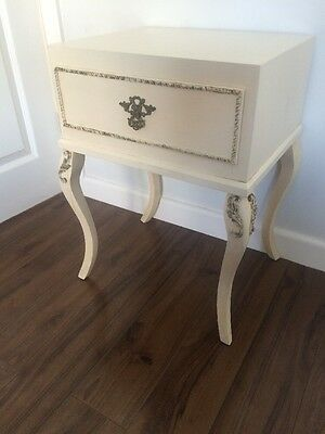 Antique French Louis Style Small Vintage Bedside Chest Of Drawers FREE UK P&P