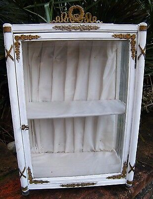 Beautiful Antique Victorian French Doll/Dolls Armoire/Cabinet Display Case