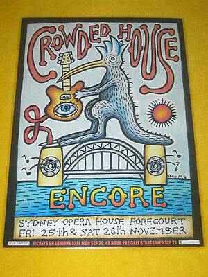 Crowded House - Encore 2016 Sydney Opera House Australian Tour- Laminated Poster