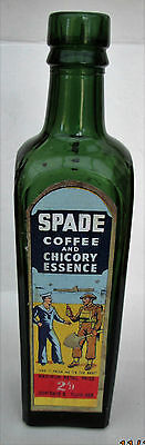 VINTAGE Bottle SPADE COFFEE AND CHICORY ESSENCE Shieldhall SCWS GLASGOW