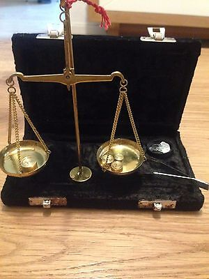 antique small Vintage brass scales