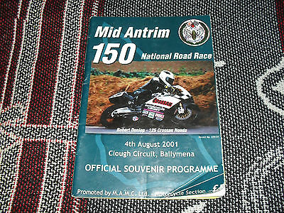 2001 Clough Motor Cycle Road Races Programme 4/8/01 - Mid Antrim 150
