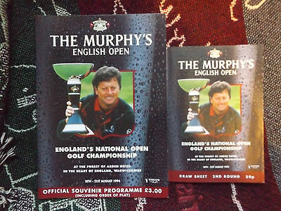 1994 English Open Golf Programme & Order Of Play Card - Forest Of Arden