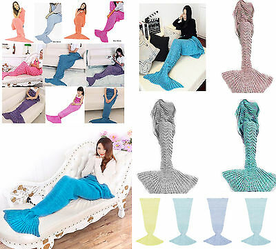 UK Seller Mermaid Fish Tail Blanket Lounge Gift Present Girls Womens Child Adult