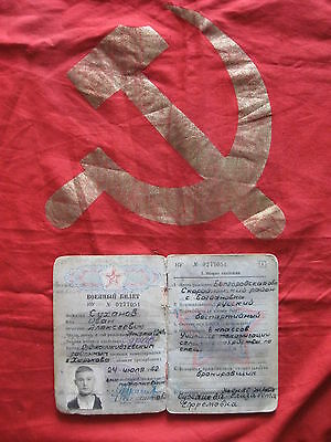 military soldier red army cold war document original Russia Russian Soldat Buch