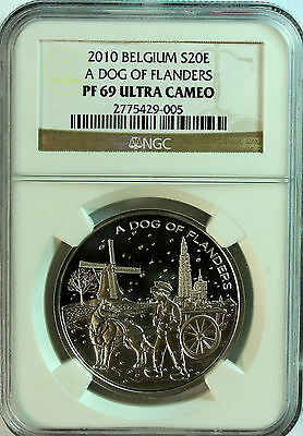 Belgien 20 Euro A Dog Of Flanders - NGC PF 69 Ultra Cameo