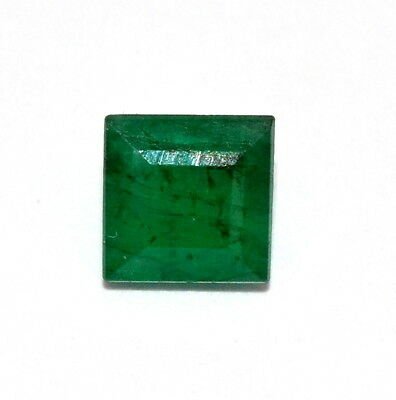 Certified Natural Emerald Square Cut 5.20 mm 0.78 Cts Untreated Loose Gemstones