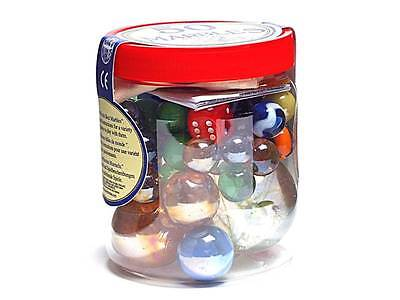 50 Of The World's Best Marbles Glass Bag Dice Classic Games Toy Kids Novelty