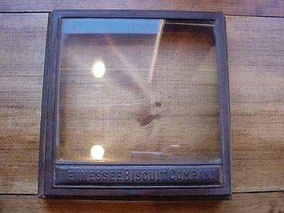 RARE VINTAGE TENNESSEE CO Advertising Country Store Cracker Biscuit wood Box Lid