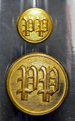 Two Antique PP Police Buttons, In Nice Vintage Shape.................V22821
