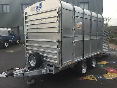 Ifor Williams DP120 10ft Cattle Sheep Pig Livestock Trailer With Decks