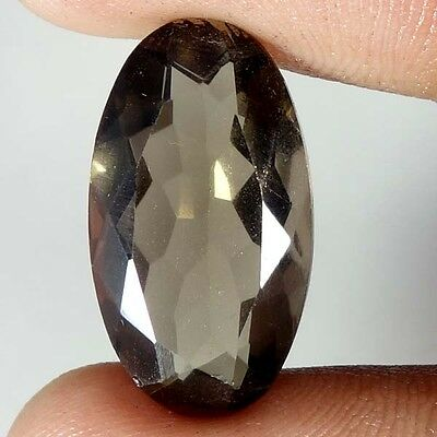 11.70Cts 100% Natural Beautiful oval Cut Smoky Quartz Loose Gemstone Stone