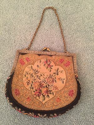 VINTAGE Tapestry Style Small Purse Handbag - Excellent Condition