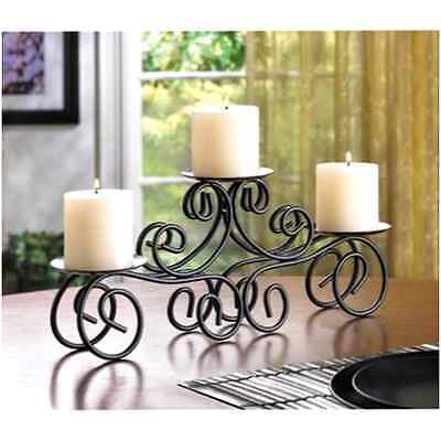 Dining Table Candle Holder Decor Wedding Centerpiece Curvy Stand Shelf Gift New