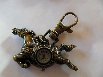 Carousel Horse Keyring Watch (M9)NEW BATTERY BEFORE POSTING FREE P&P