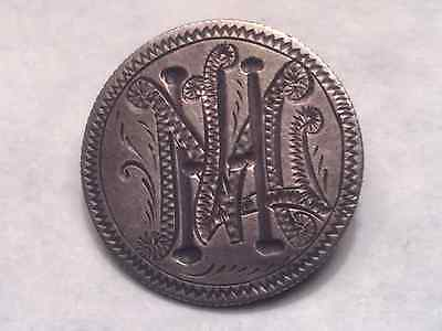 """""""MLH"""" or """"MHL"""" Love Token on US Seated Liberty Dime with Silver Clasp"""