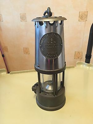 Vintage Eccles Number 6 Coal Miners Lamp In Full Brass
