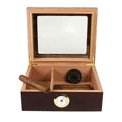 Humidor Small Quality Desktop Importers Glasstop Hold Fresh Cigar Tobacco Capri