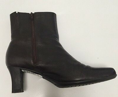 M & S Ankle Ladies Leather Boots Size 4 UK