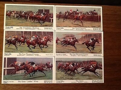 Big Events On The Turf 1923.... (Set Of 12 Cards)