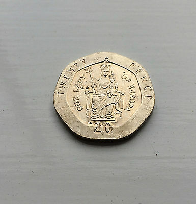 Gibraltar 20p Twenty Pence Coin- Our Lady of Europa 2001