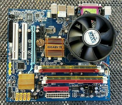 PLACA BASE GIGABYTE LGA 775 GA-G31MF-S2 procesador Core 2 Duo E7300 y 2GB RAM