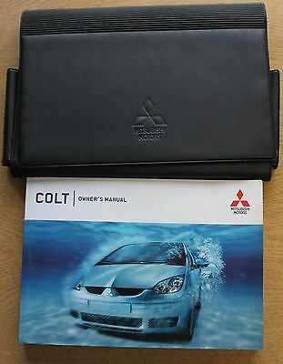 Mitsubishi Colt Handbook Owners Manual 2004-2008 Wallet Pack 11582