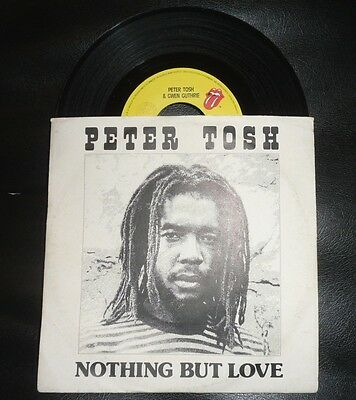 "PETER TOSH Cold Blood + Nothing But Love Reggae 7"" 45 Giri Wailers NO Bob Marley"