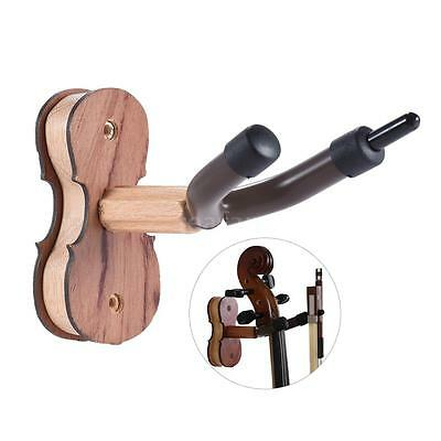 Hardwood Violin Hanger Hook with Bow Holder for Home & Studio Wall Mount D0X9