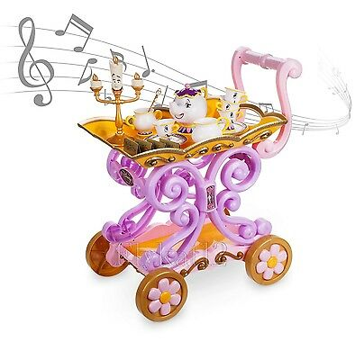 Disney Store Beauty and the Beast ''Be Our Guest'' Singing Tea Cart Play Set
