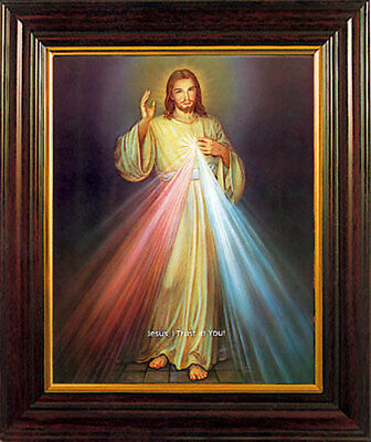 DIVINE MERCYJESUS FRAMED PICTURE - 100's OF RELIGIOUS STATUES AND CANDLES LISTED
