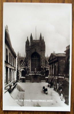 BATH ABBEY WEST FRONT 1930s, Sepia, unposted, VG cond