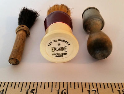 Rare HTF Mayd-Well Shaving Brush, Erskine Shaving Brush & Homemade Brush