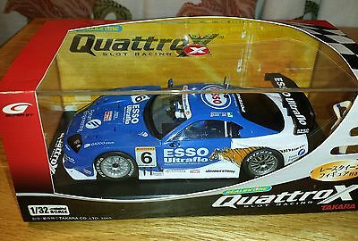 Scalextric QuattroX..Esso Ultraflow Supra with Pit Girl Boxed