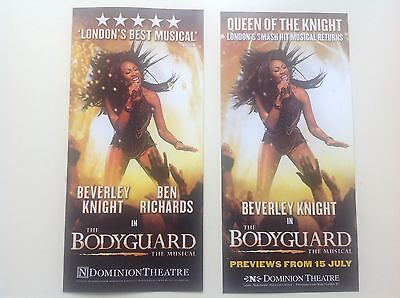 2 x different Flyer THE BODYGUARD The Musical DOMINION THEATRE Beverley Knight