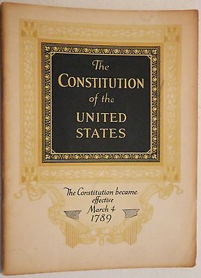 JOHN HANCOCK Life Insurance CONSTITUTION of the UNITED STATES Book #111 1930's