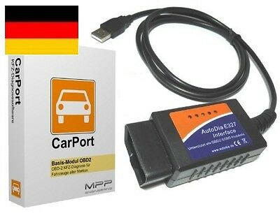 CarPort OBD2 II Diagnosegerät Software + Interface CAN BMW Mercedes Ford Renault