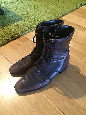 Brown Leather Boots By Jana- Size 6.5
