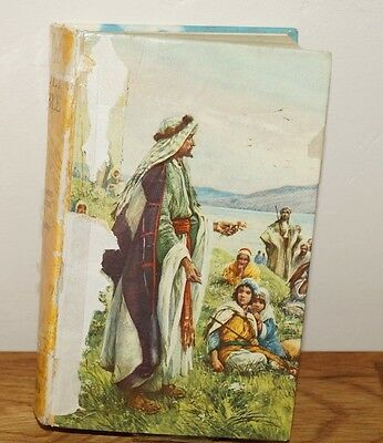 The Holy Bible-Illustrated In Colour E S Hardy Vintage Hb