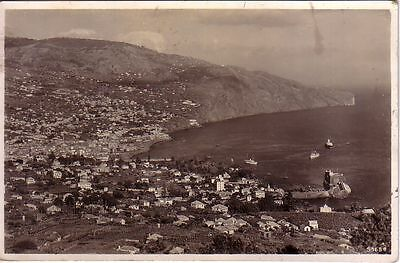 Portugal - 1939 Madeira - View of Funchal used real photo postcard