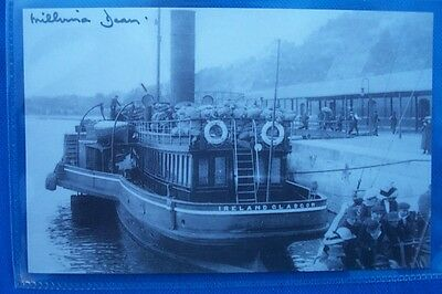 Signed MILLVINA DEAN REMBRANT POSTCARD QUEENSTOWN BOAT  THE RMS TITANIC