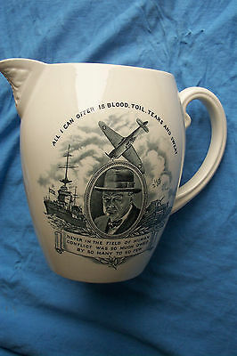Rare Ww2 Copeland Spode Jug  Churchill Give Us The Tools -  Appeal To The Usa