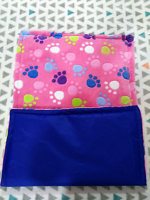 WATERPROOF Guinea Pig, Dog and small animal fleece cage liner PINK PAWS